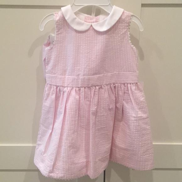 7aa7d9bc Ralph Lauren Baby Girl Seersucker Dress NWT